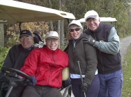L to r: John Dawson, Alan Marit, Mary Bowlby, Gary Bowlby