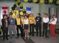 Cheerleaders'BR>Left to Right: Cheryl Evans, David Godwin, Nancy