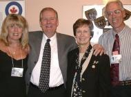 Lesley Brown, Ron and Glenda Bauman, Bruce Brown