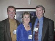 L to r: Pat Rushton, Muriel Kitchen, Keir Kitchen