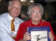 "Bill Stover presents ""Gift of Wings"" to Carolyn (Jackson) Paquin"