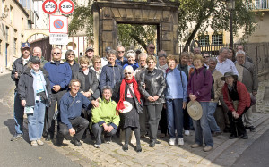 Ex Students, Spouses and Guests during walking tour in Metz 2009 Reunion